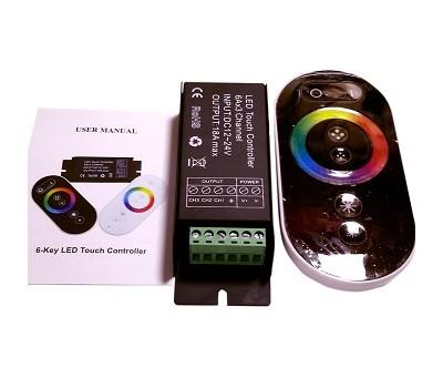 RGB touch-контроллер PREMIUM черный, 18A, 216W, 18 режимов