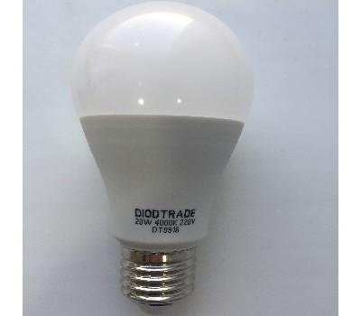 Светодиодная лампа груша цоколь A60 E27 220V - 20W 4000K