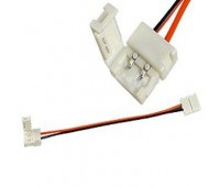 Соединительный кабель с двумя 2-х контактными зажимными разъемами для диодной ленты - 8 мм, 10 мм