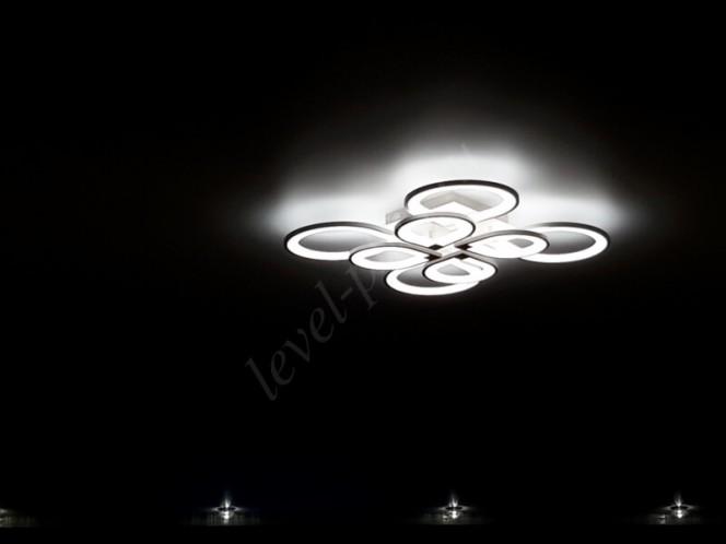 Матовые натяжные потолки светодиодная люстра