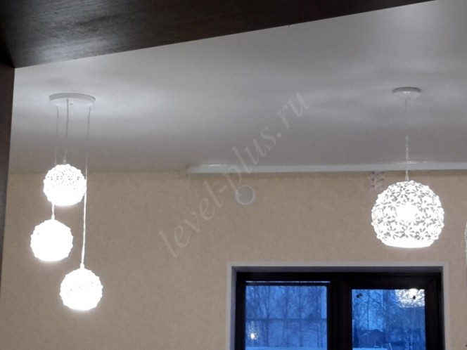 Матовые натяжные потолки подвесные плафоны