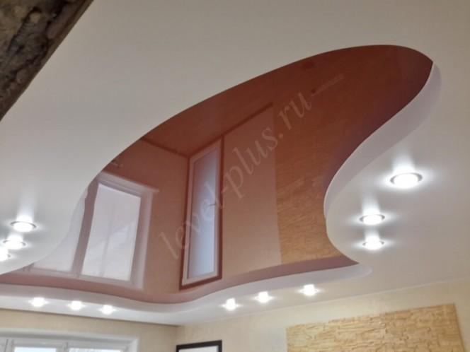 Красивый многоуровневый натяжной потолок