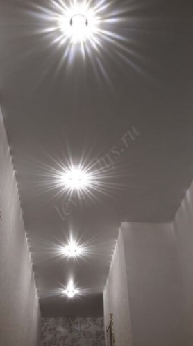 Сатиновые натяжные потолки