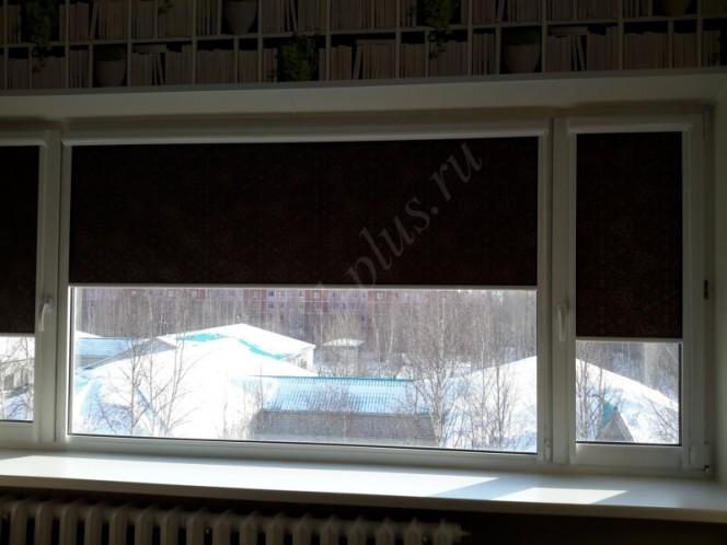 Рулонные шторы люкс гостиная